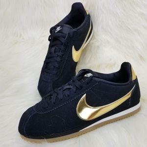NEW NIKE CLASSIC CORTEZ SE Black Sneakers Shoes